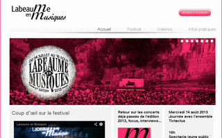 labeaume-festival.org website preview