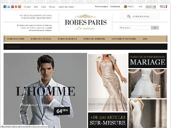 robes-paris.com website preview