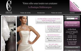 couturenuptiale.com website preview