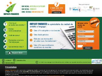 impact-finances.fr website preview