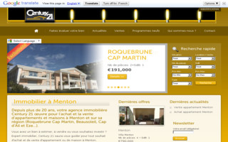 immobilier-menton-century21.fr website preview