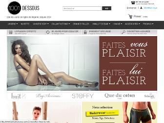 1001dessous.com website preview