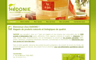 hedonie.fr website preview