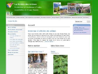 riviere-des-aromes.fr website preview