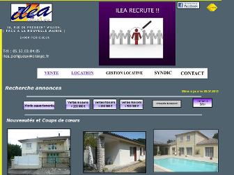 ilea-immobilier.fr website preview