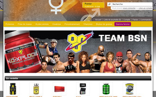 proteines-muscu.com website preview