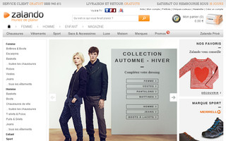 zalando.fr website preview