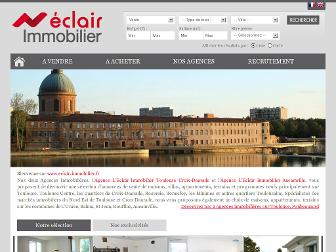 eclair-immobilier.fr website preview