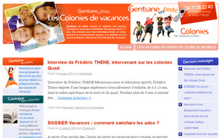 colonies-de-vacances.gentiane-en-piste.fr website preview