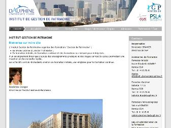 igp.dauphine.fr website preview