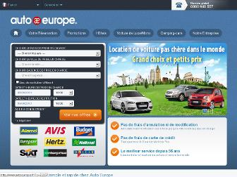 autoeurope.fr website preview