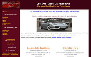 voitures.de.prestige.free.fr website preview
