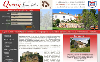 quercy-immobilier.fr website preview