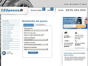 123pneus.fr website preview