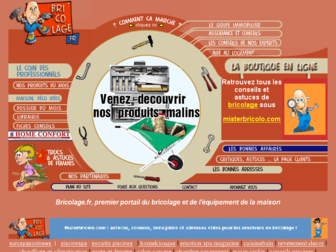 bricolage.fr website preview