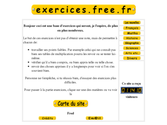 exercices.free.fr website preview