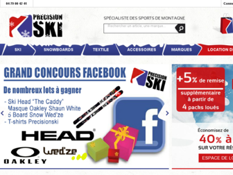 precisionski.fr website preview
