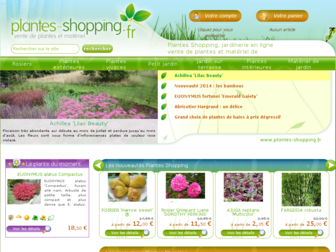 plantes-shopping.fr website preview