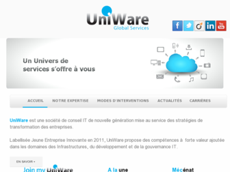 uniware.fr website preview