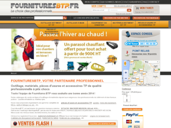 fournituresbtp.fr website preview