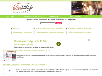 winewiki.fr website preview
