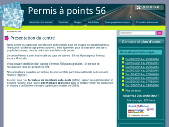 permisapoints56.fr website preview
