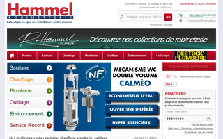 robinetterie-hammel.fr website preview