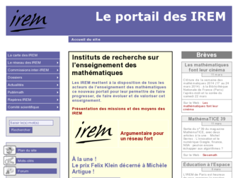 univ-irem.fr website preview