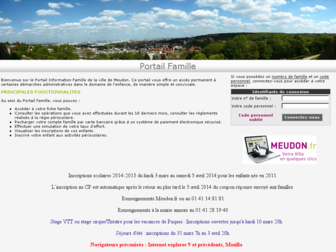 monet.mairie-meudon.fr website preview