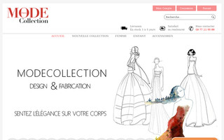 modecollection.fr website preview