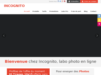 incognito.fr website preview