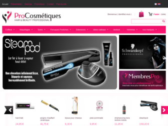 procosmetiques.be website preview