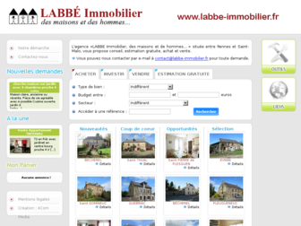 labbe-immobilier.fr website preview
