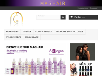 maghair.fr website preview