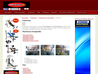 exercice.muscu.be website preview