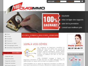 100diagimmo.fr website preview