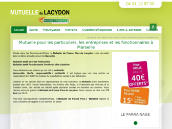 mutuelledulacydon.fr website preview