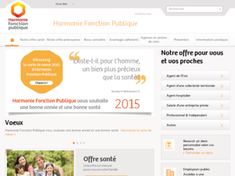 harmonie-fonction-publique.fr website preview