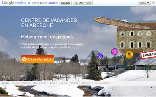 centrevacancesardeche.fr website preview
