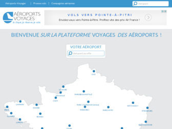 aeroports-voyages.fr website preview