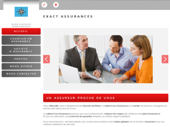 exact-assurances.fr website preview