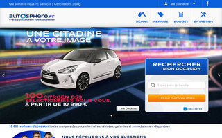 autosphere.fr website preview