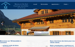 ym-immobilier.ch website preview