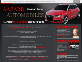 aazard-automobiles.fr website preview