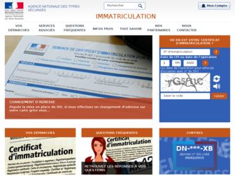 immatriculation.ants.gouv.fr website preview