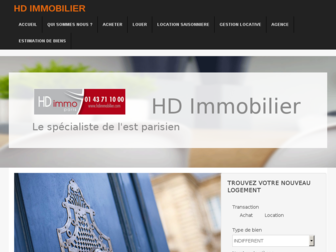 hdimmobilier.fr website preview