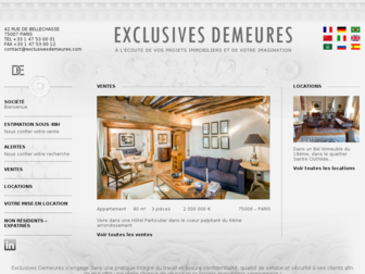 exclusives-demeures.fr website preview