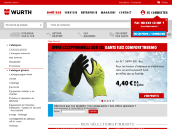 eshop.wurth.fr website preview