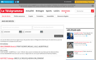 avis-deces.letelegramme.fr website preview