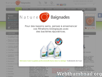 natureobaignades.fr website preview